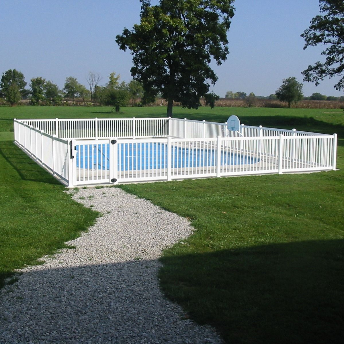 Have young children around an outdoorpool a pool fence