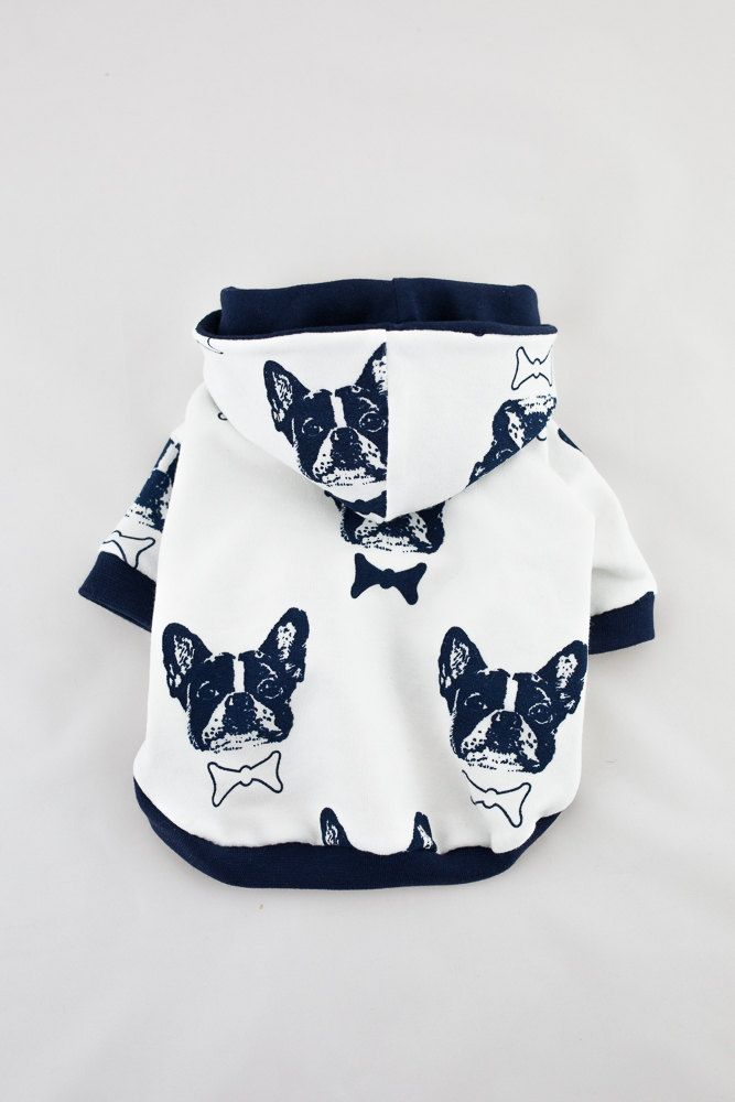 Handmade Dog Hoo Clothes For Small Size Dogs Sweater Pet Clothing French Bulldog By Loladogfashion On Etsy