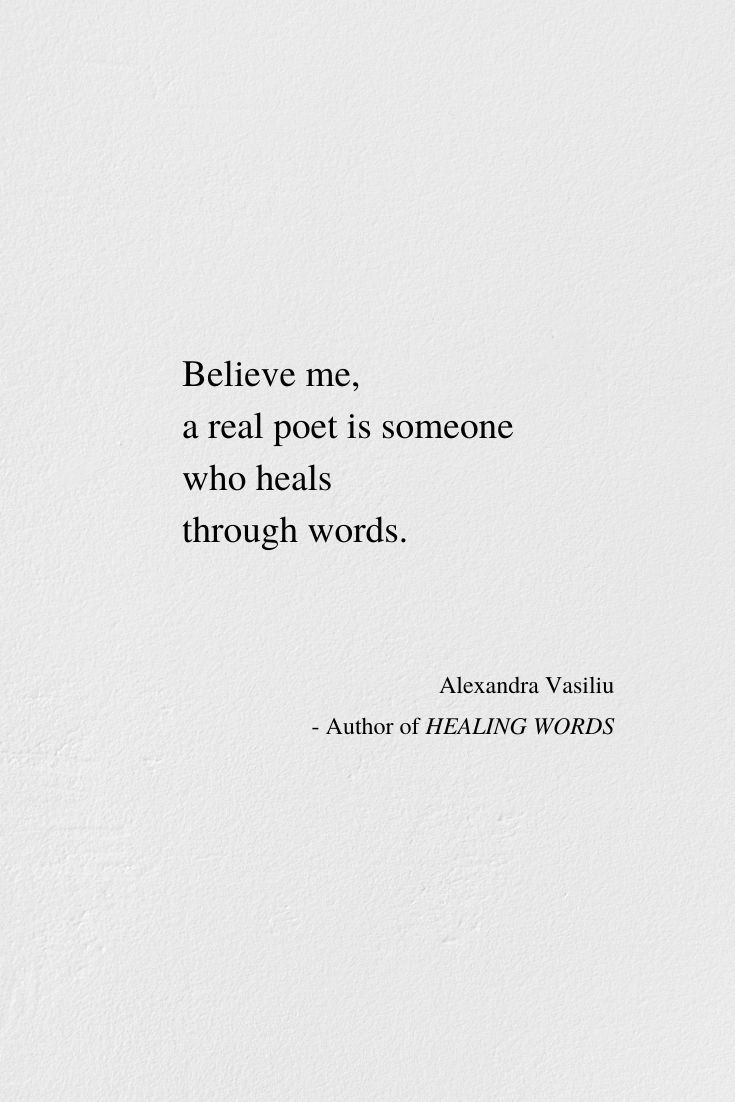 Discover the poetry of your soul