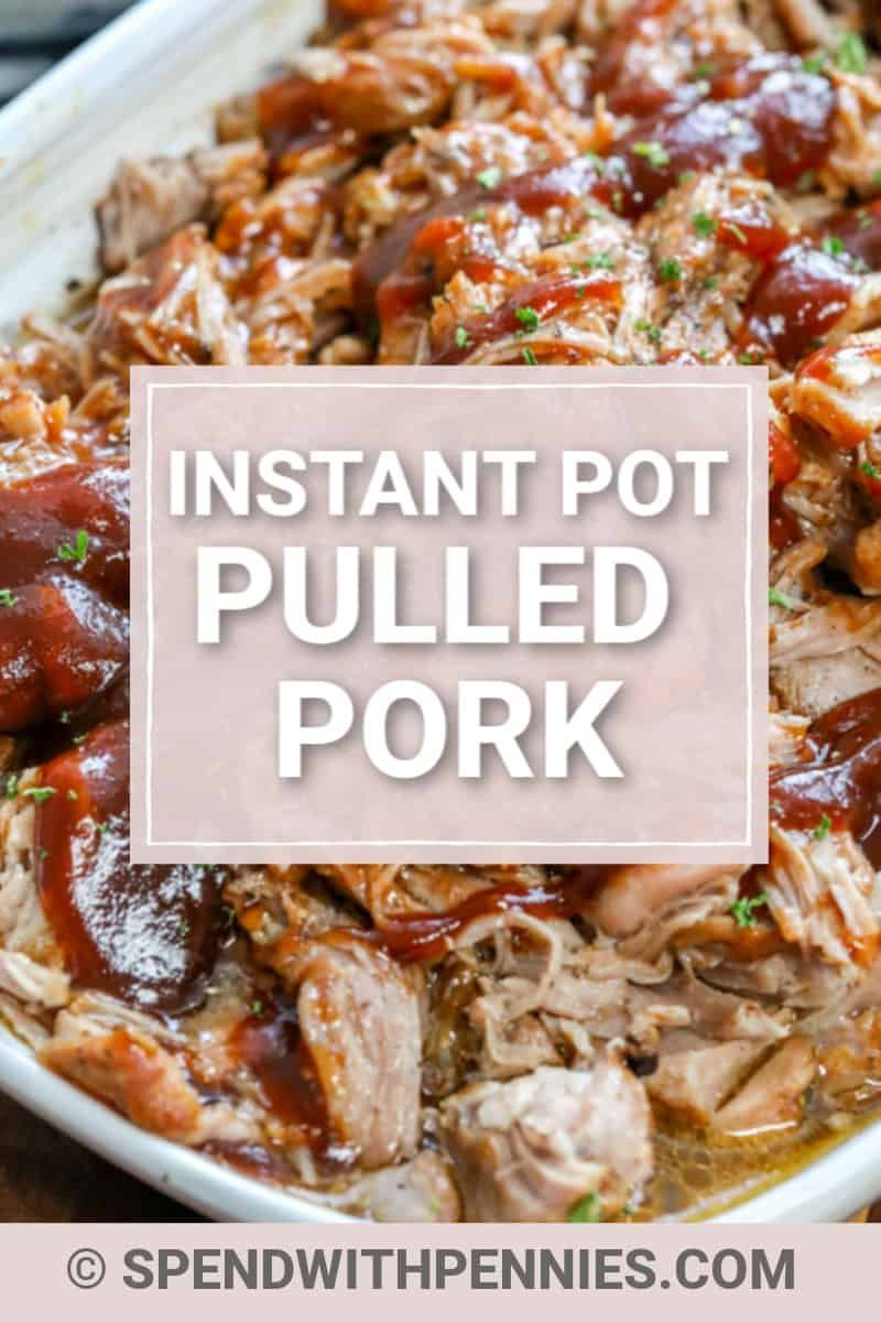 Photo of This pulled pork recipe uses an Instant Pot, which means eve…
