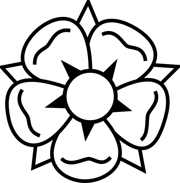Flower Coloring Pages Tattoo Clip Art Craft