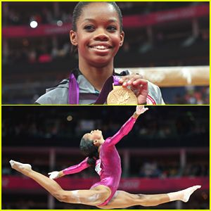 Gabrielle Douglas Wins Gold in Individual All-Around at 2012 Olympics. I love her!!