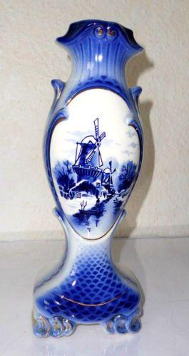 dachbodenfund delft vase fisch fischvase keramik oder porzellan muehle holland delfter. Black Bedroom Furniture Sets. Home Design Ideas