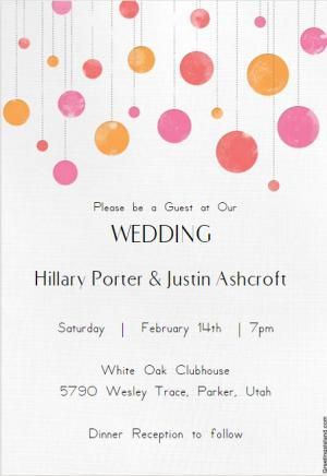 Use These Free Wedding Invitation Templates To Create Your Very Own Custom  Invite That Looks Just Like How You Want. Customize Text, Colors, And More.