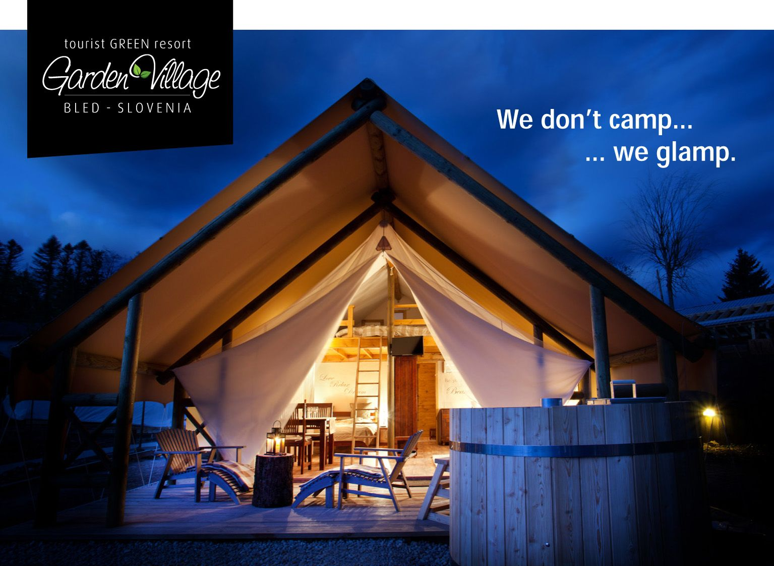 Postcard from Garden Village Bled - glamping tent.   Postcards ...