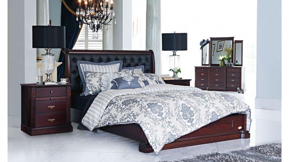 Charlotte Queen Bed Beds Suites Bedroom Beds Manchester Harvey Norman Australia