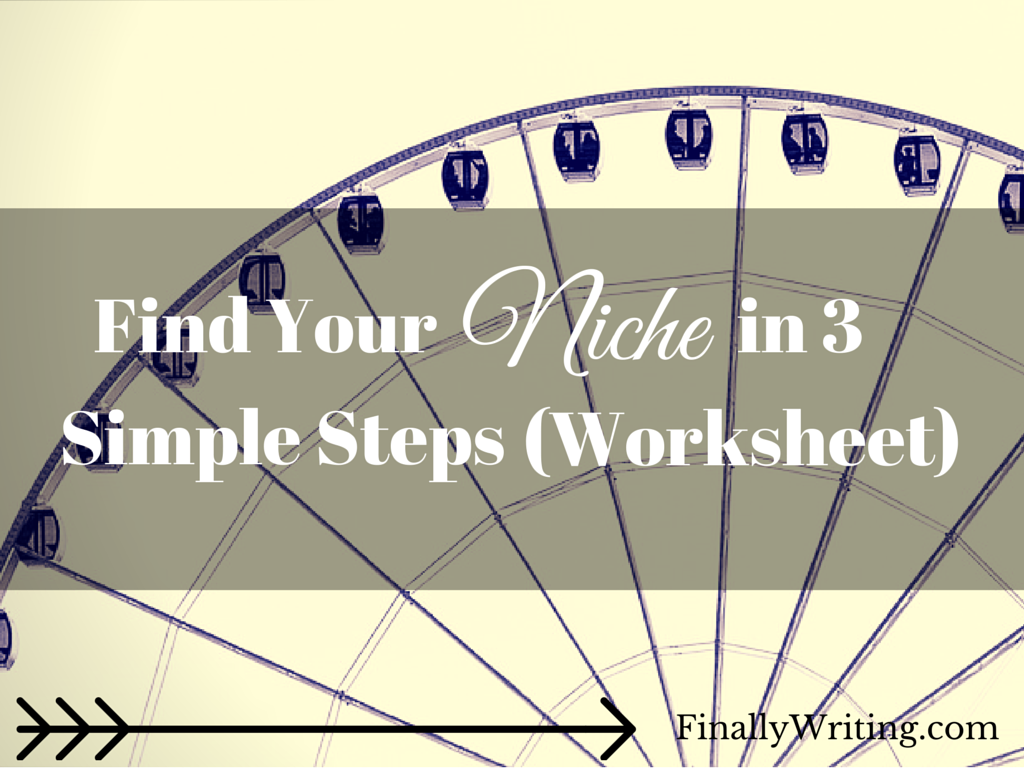 Find Your Niche In 3 Easy Steps Worksheet With Images