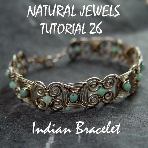 Tutorial 26 - Indian Bracelet | Tel takı bileklikler | Pinterest