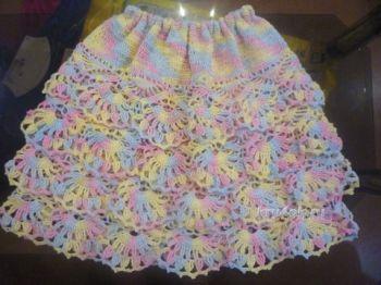 Вязаная юбка для детей крючком