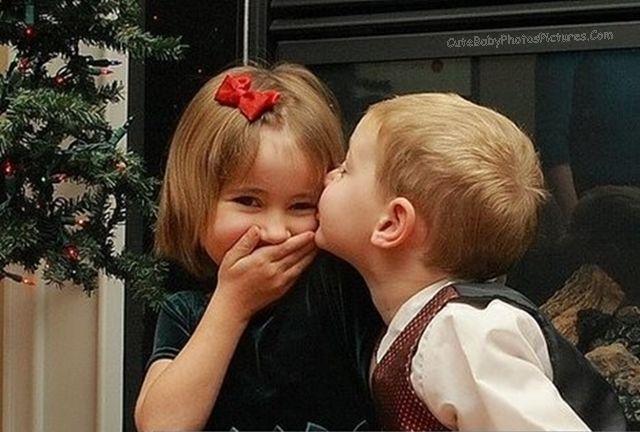Baby cute kiss