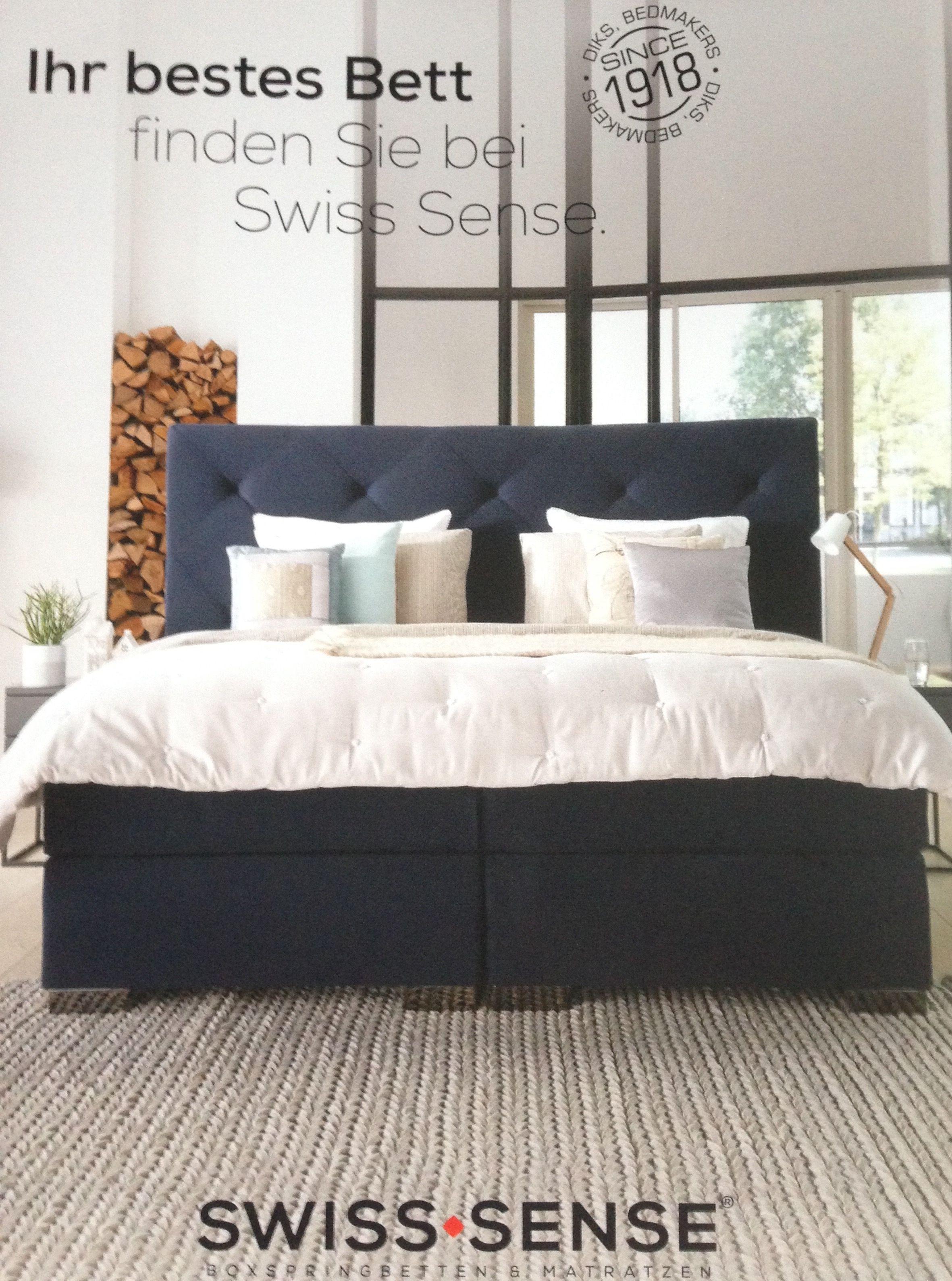 Boxspring Swiss Sense Luna Blue Industriele Slaapkamer Slaapkamer