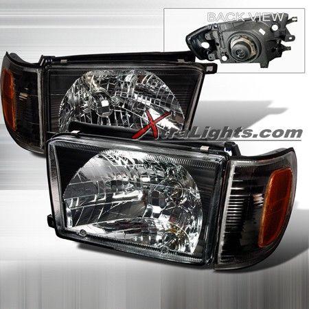 99 02 Toyota 4runner Headlights Corner Lights Black Pair 4runner Toyota 4runner Toyota