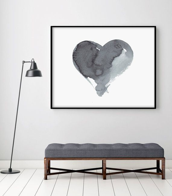 Heart Artwork Printable Watercolor Painting Art Painting Etsy Watercolor Paintings Abstract Oversized Wall Art Abstract Art Painting