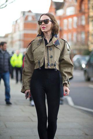 Ulyana Sergeenko. See the best street style looks at London Fashion Week right here: