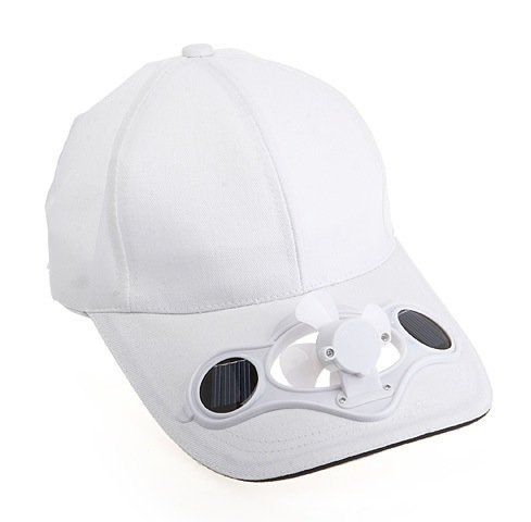 Solar Fun Cap White By Solar 9 75 Comes With Different Colors Keeping Your Head Cool Using Solar Power G Cool Gadgets For Men Solar Powered Fan Mini Fan