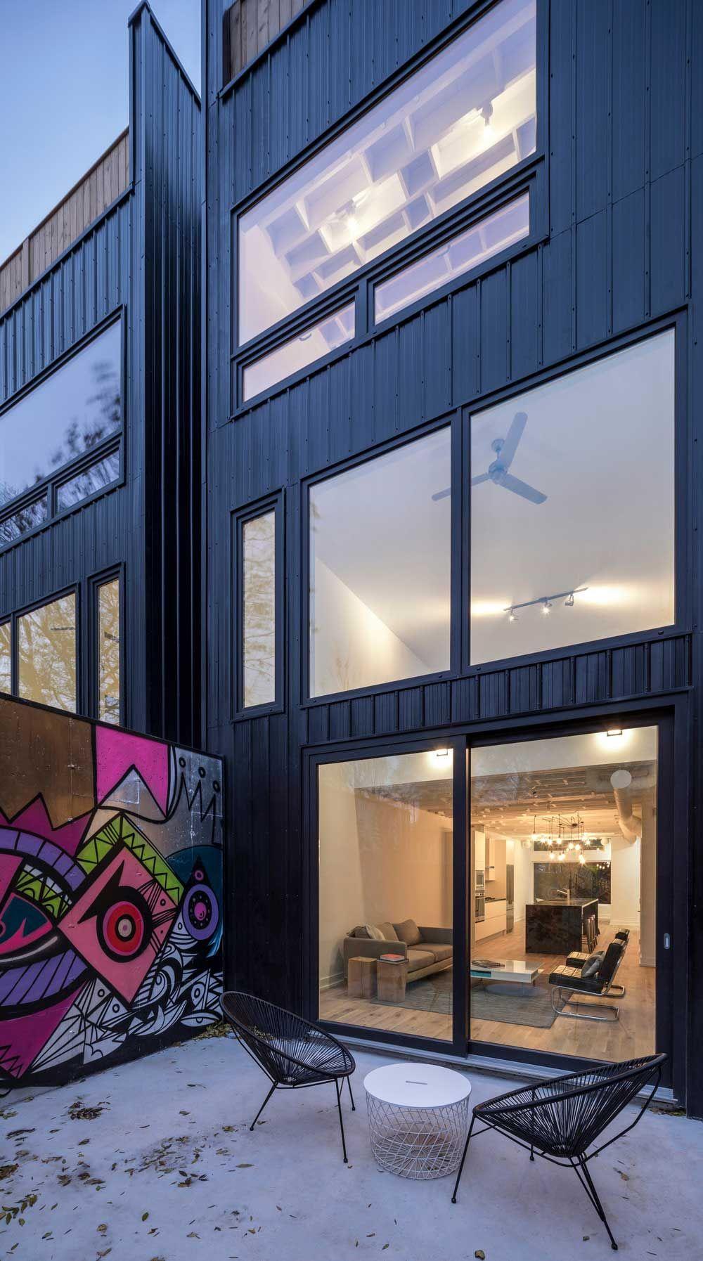 Modern infill house back view architecture pinterest modern