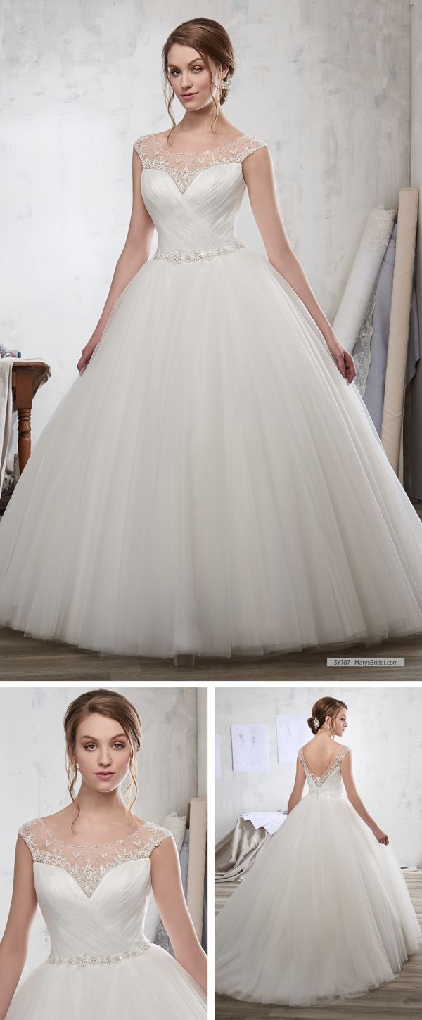 Maryus bridal style y u tulle bridal ball gown with beaded