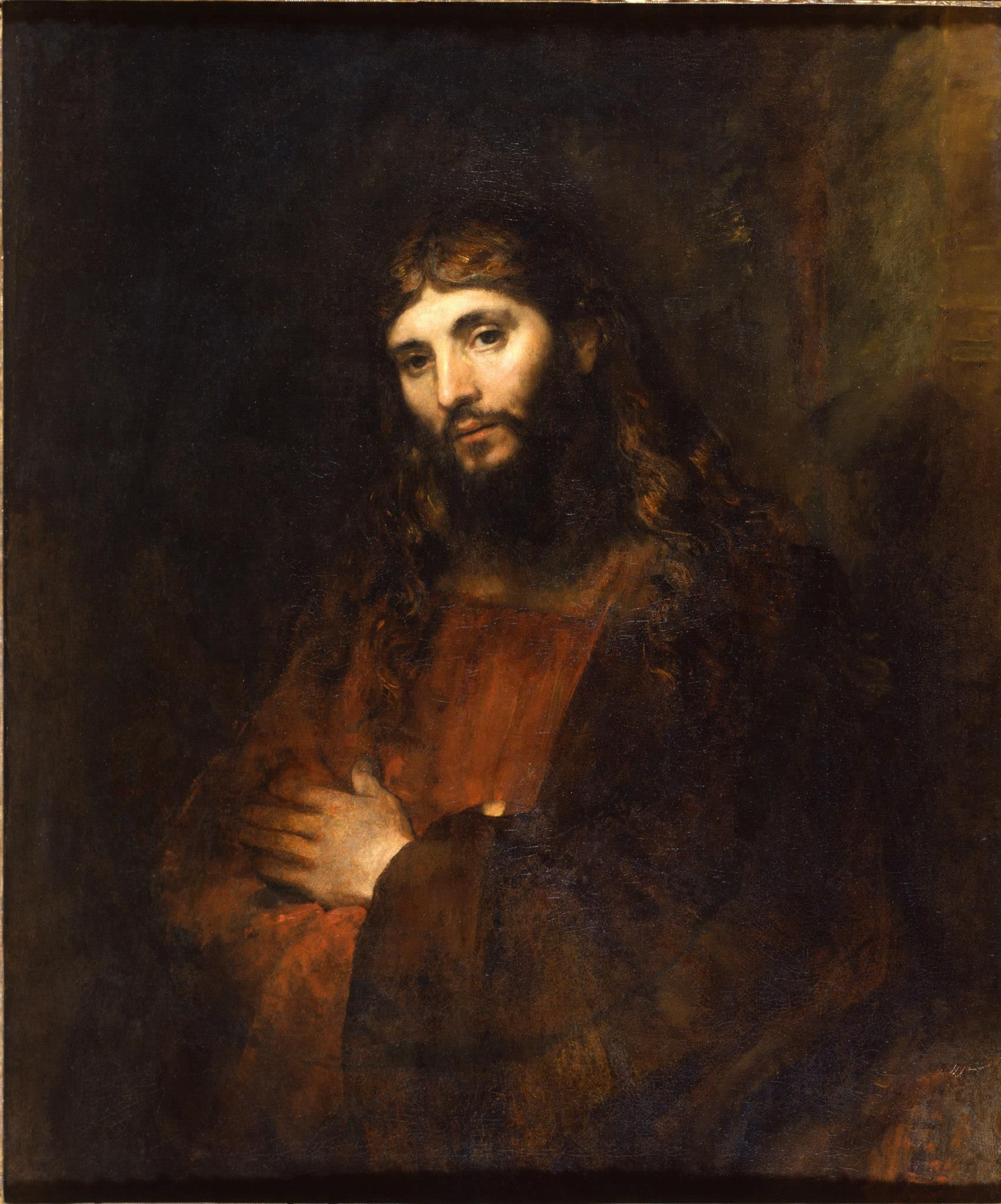 Christ with Arms Folded, Rembrandt van Rijin, 1657-61, oil on canvas, The Hyde Collection