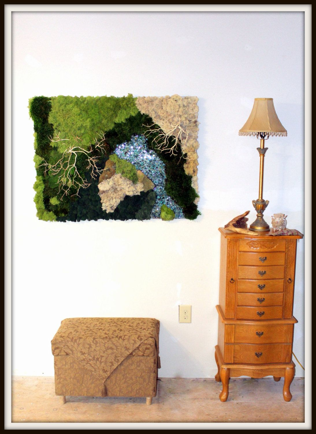 Moss Wall Art 30 Quot X40 Quot Real Moss Preserved No Water Needed