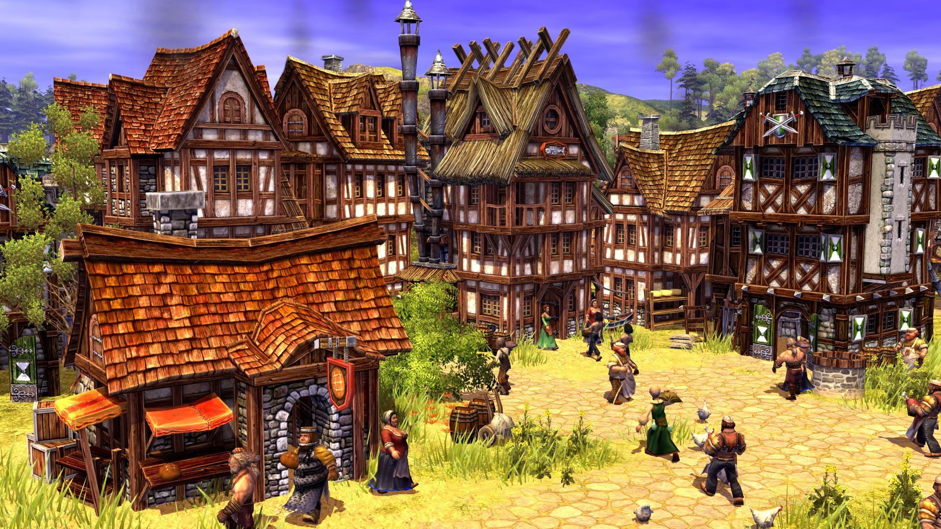 Settlers Online City Building Strategy Fantasy Adventure Rts Mmo Empire 1tso Town Village Rustic Detail City Buildings Home Wallpaper Fantasy Adventure