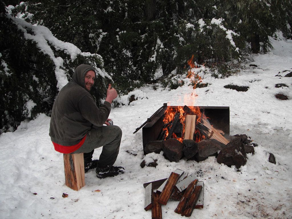 Snow Camping at Shellrock Creek Campground | Loomis Adventures ...