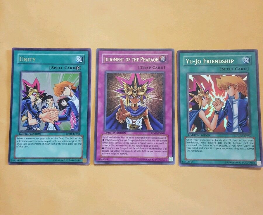 Yugioh Unity Yu Jo Friendship Judgement Of The Pharoh Promo Card Lot