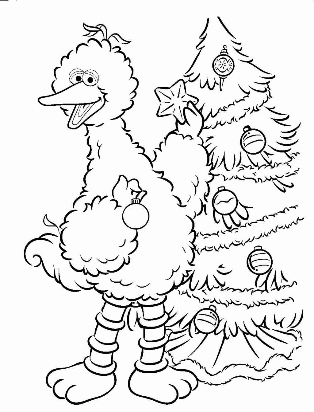 Sesame Street Coloring Sheets Sesame Street Coloring Pages Sesame Street Christmas Christmas Coloring Pages