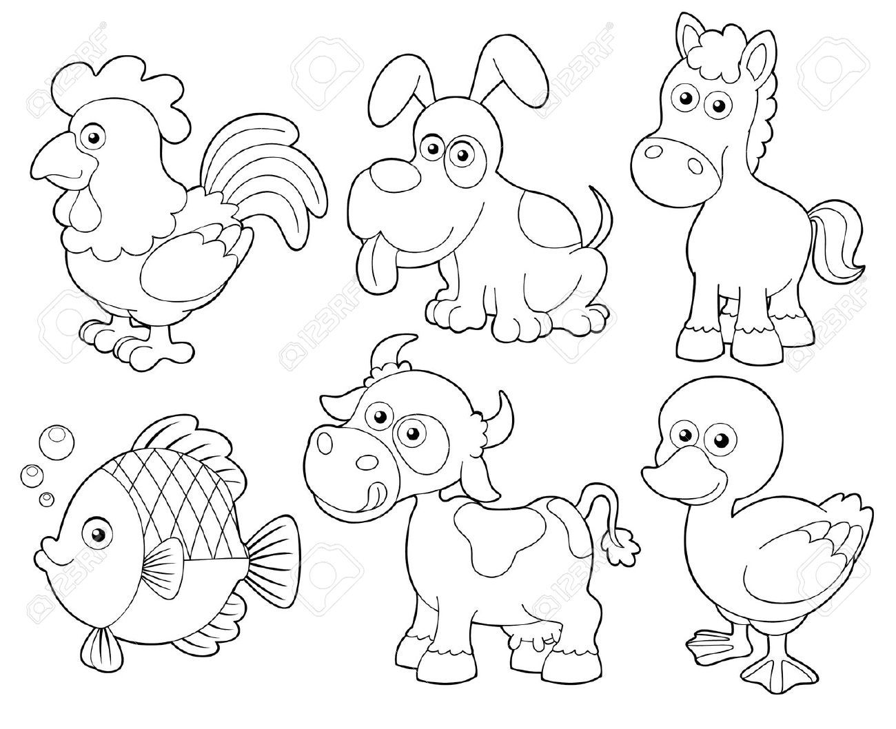 24 Animales Para Colorear Para Niños: Animales De La Granja Para Colorear - Buscar Con Google