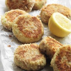 TUNA, SPRING ONION AND LEMON FISHCAKES, a delicious recipe from the new Cook with M&S app.