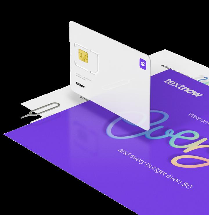 Sim Card Sim Only Plans Pay As You Go Sim Textnow Cards Card Kit Card Template