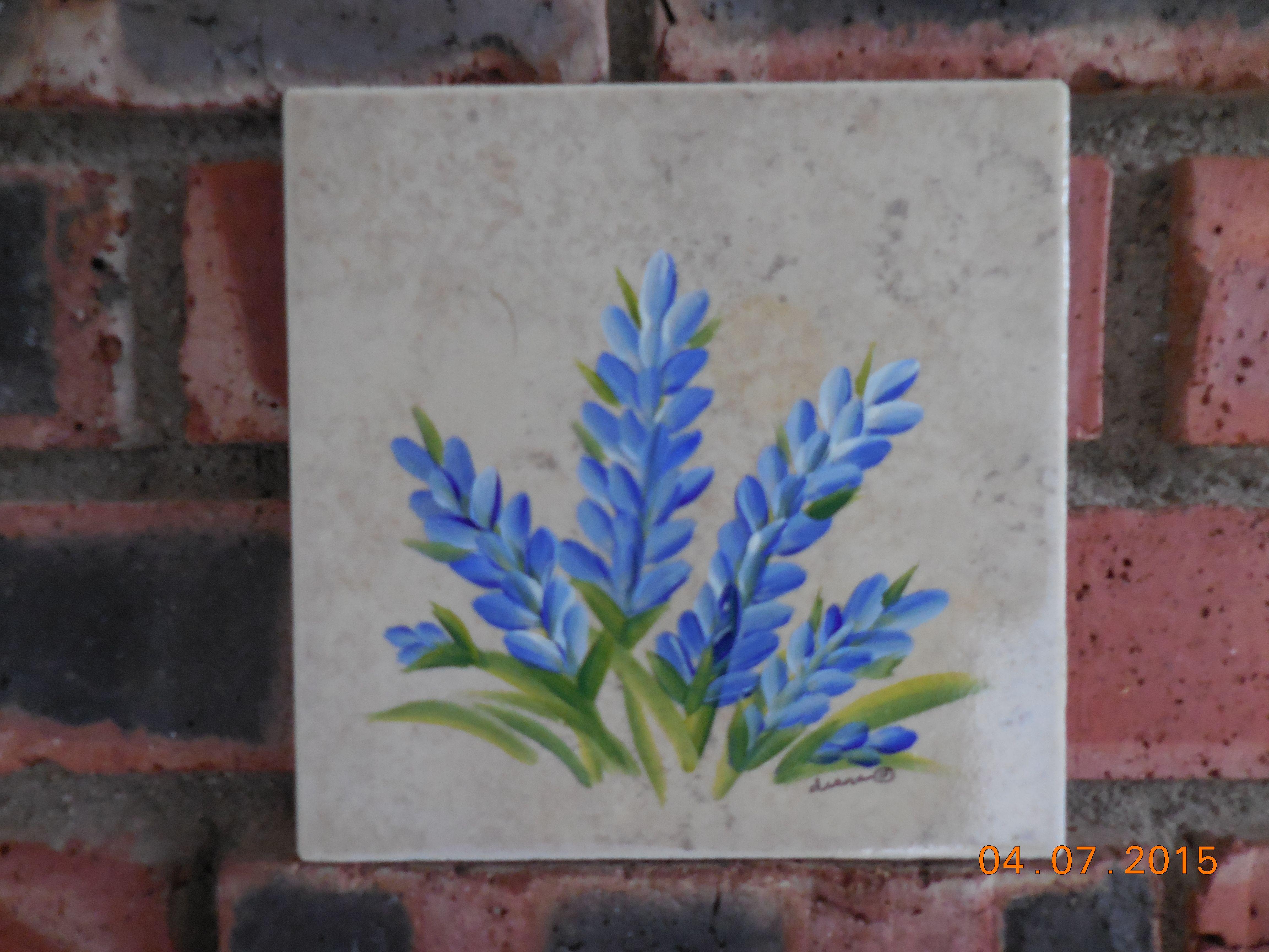 Bluebonnets on a ceramic tile 6x6 custom painted design to bluebonnets on a ceramic tile 6x6 custom painted design to incorporate into dailygadgetfo Images
