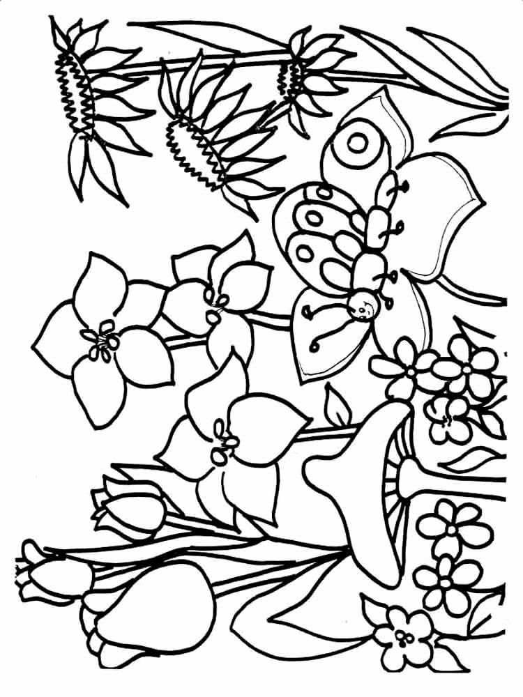 Printable Coloring Pages Spring in 2020 Spring coloring