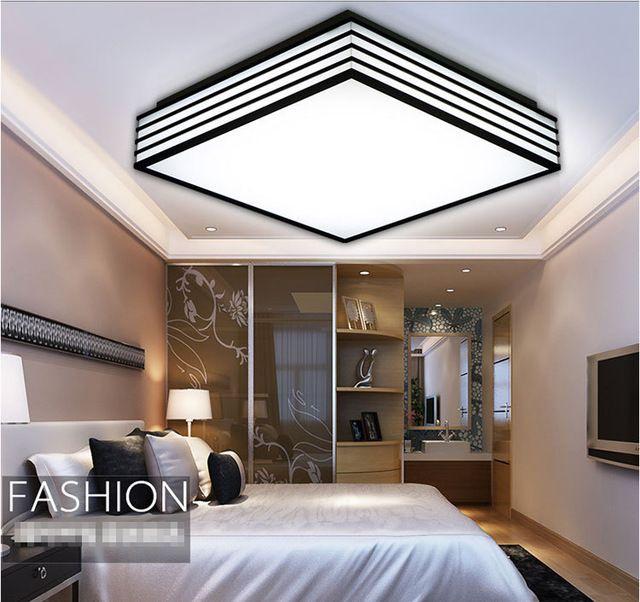 LED akril tér mennyezeti lámpa Fekete-fehér LED-es mennyezeti ...