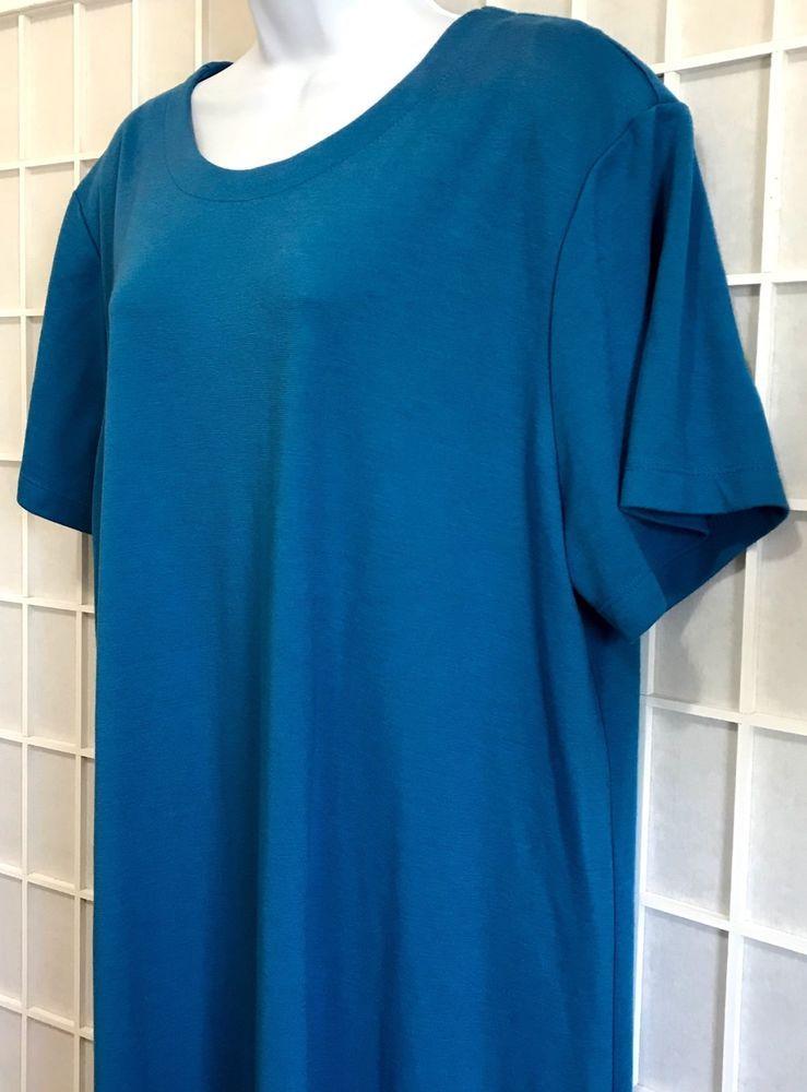 Vintage Susan Graver Dress 2x Romper Made In Usa Plus Size Blue Qvc
