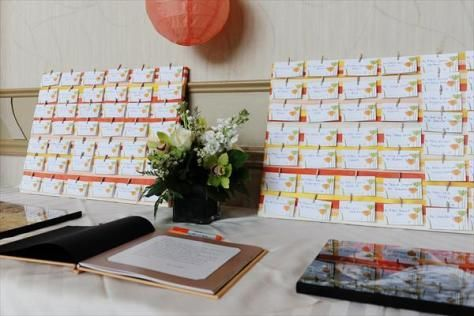 Mendenhall Inn Wedding with a coral & yellow color scheme