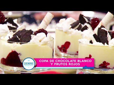 Postre De Chocolate Blanco Y Frutos Rojos Recetas Cocineros