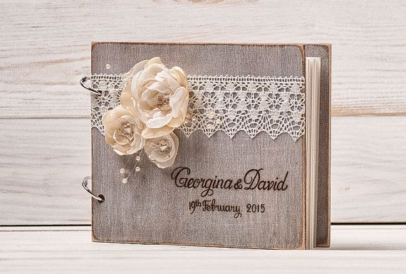 Wedding Guest Book Guest Book Rustic Guest by InesesWeddingGallery
