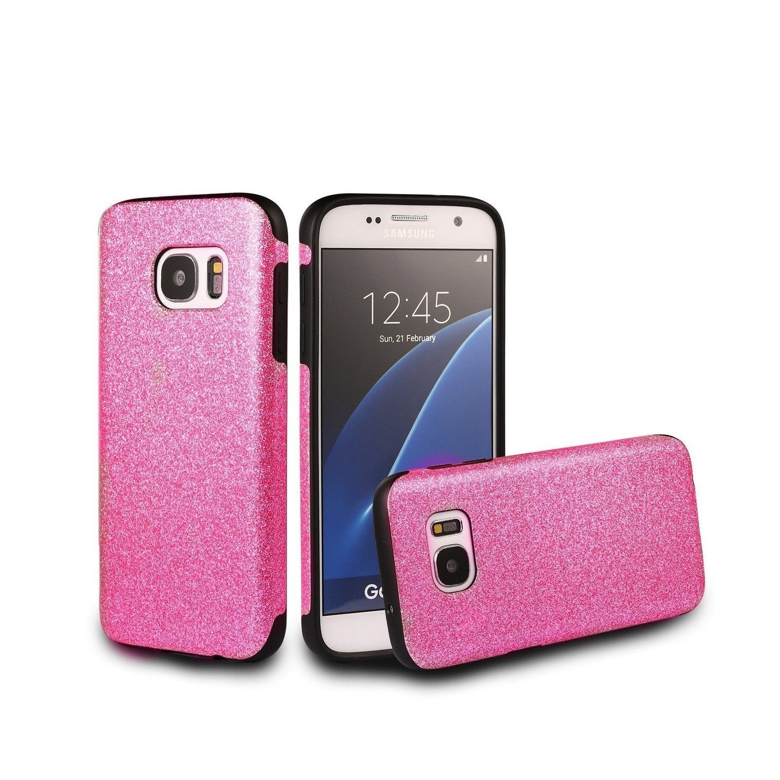 best website 3cad3 8c796 HOT PINK BLING New Cute Shiny Sparkle Glitter Phone Case Cover for ...