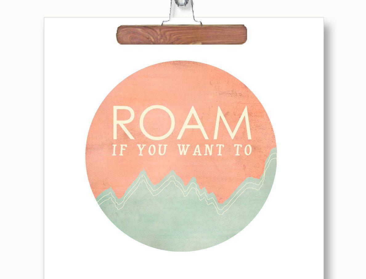 Roam Print via Etsy