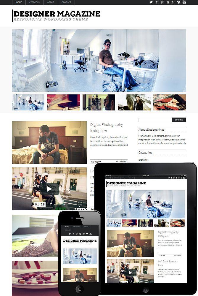 designer magazine theme responsive | MAG | Pinterest | Designers ...