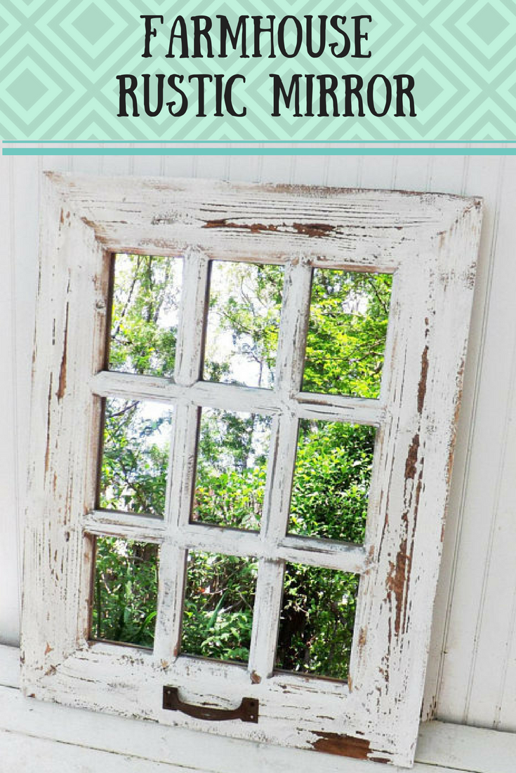 I Love The Rustic Look Of This Wall Mirror It Would Go Great In Any Entry Way Handmade F Wall Decor Bedroom Farmhouse Wall Decor Vintage Farmhouse Decor