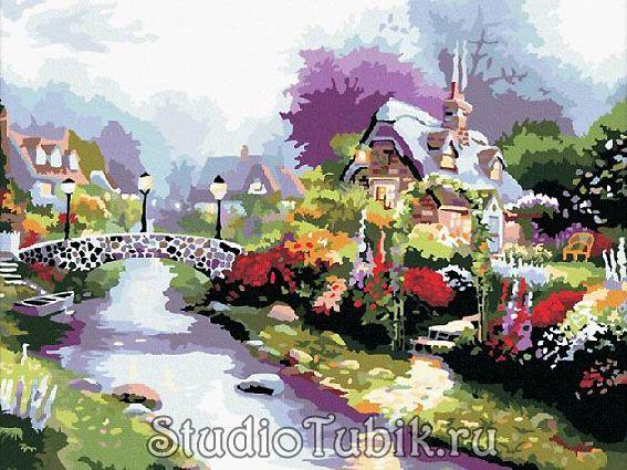 Картины известных художников : Мост с фонарями, худ.Томас ...