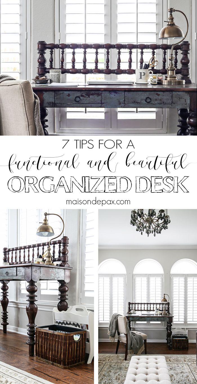 Quick Desk Organization Tips | Pinterest | Magazine holders, File ...