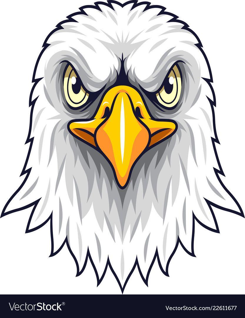 Cartoon Eagle Head Mascot Royalty Free Vector Image Eagle Art Eagle Head Eagle Cartoon