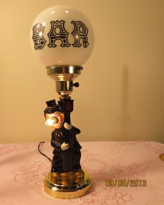 Vintage 1950's Charlie Chaplin 3-Way Bar Lamp on Etsy, $49.00 ...