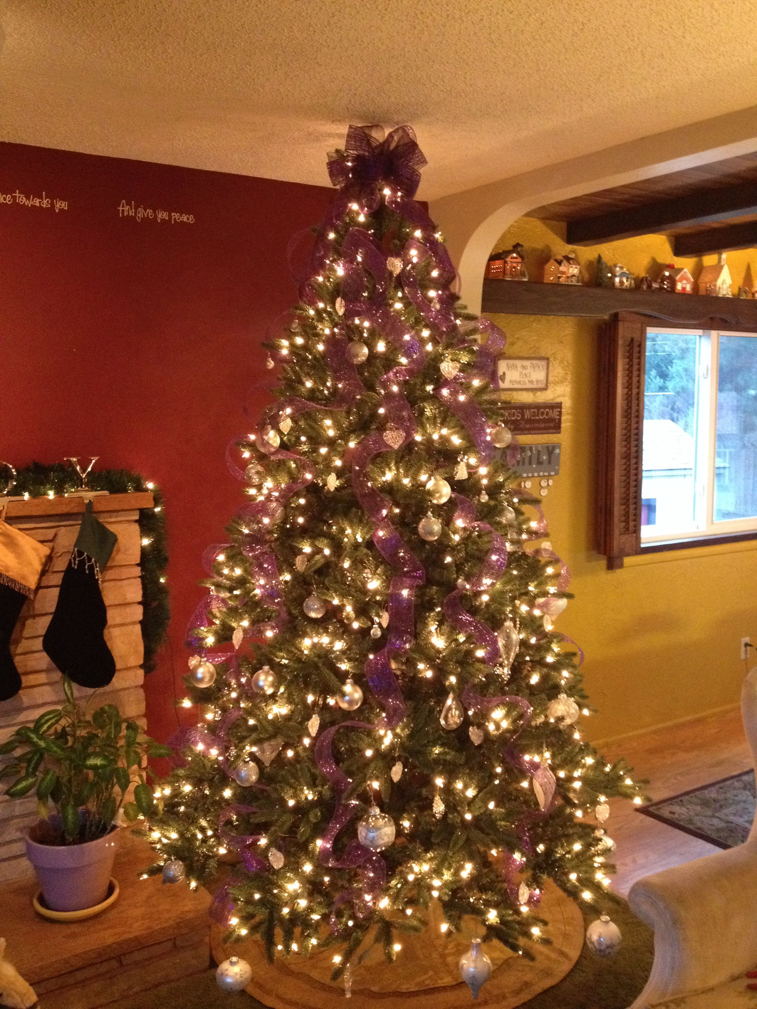 I Did Purple Gold And Silver Ornaments White Lights