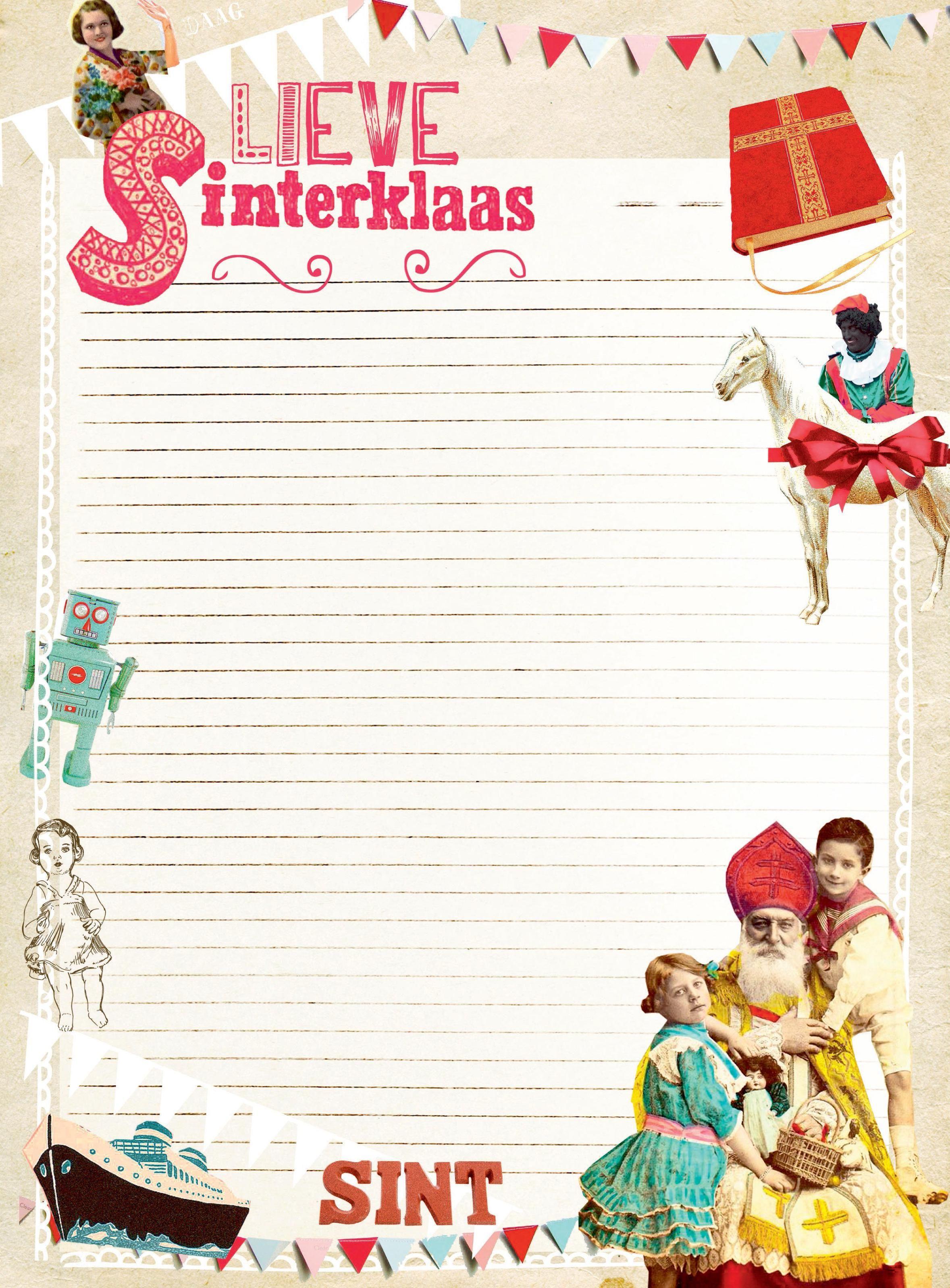 Genoeg Sinterklaas Briefpapier Printen RN99 | Belbin.Info @US99