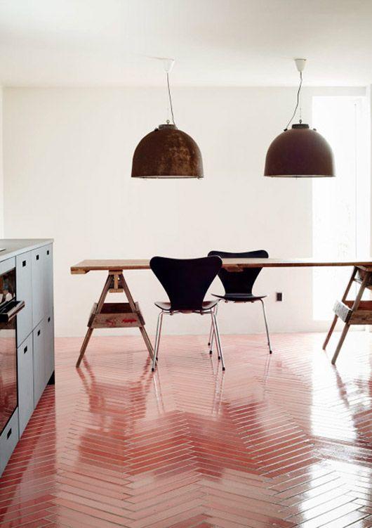File Under Pop Sfgirlbybay Interior Herringbone Tile Floors Floor Design