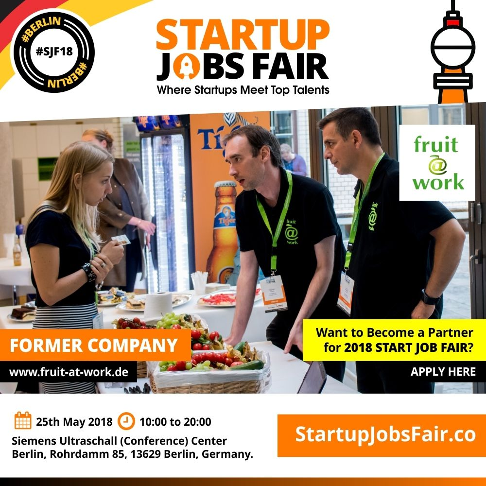 Startup Jobs Fair - 2018 Former Company Fruit @ Work (https://www ...