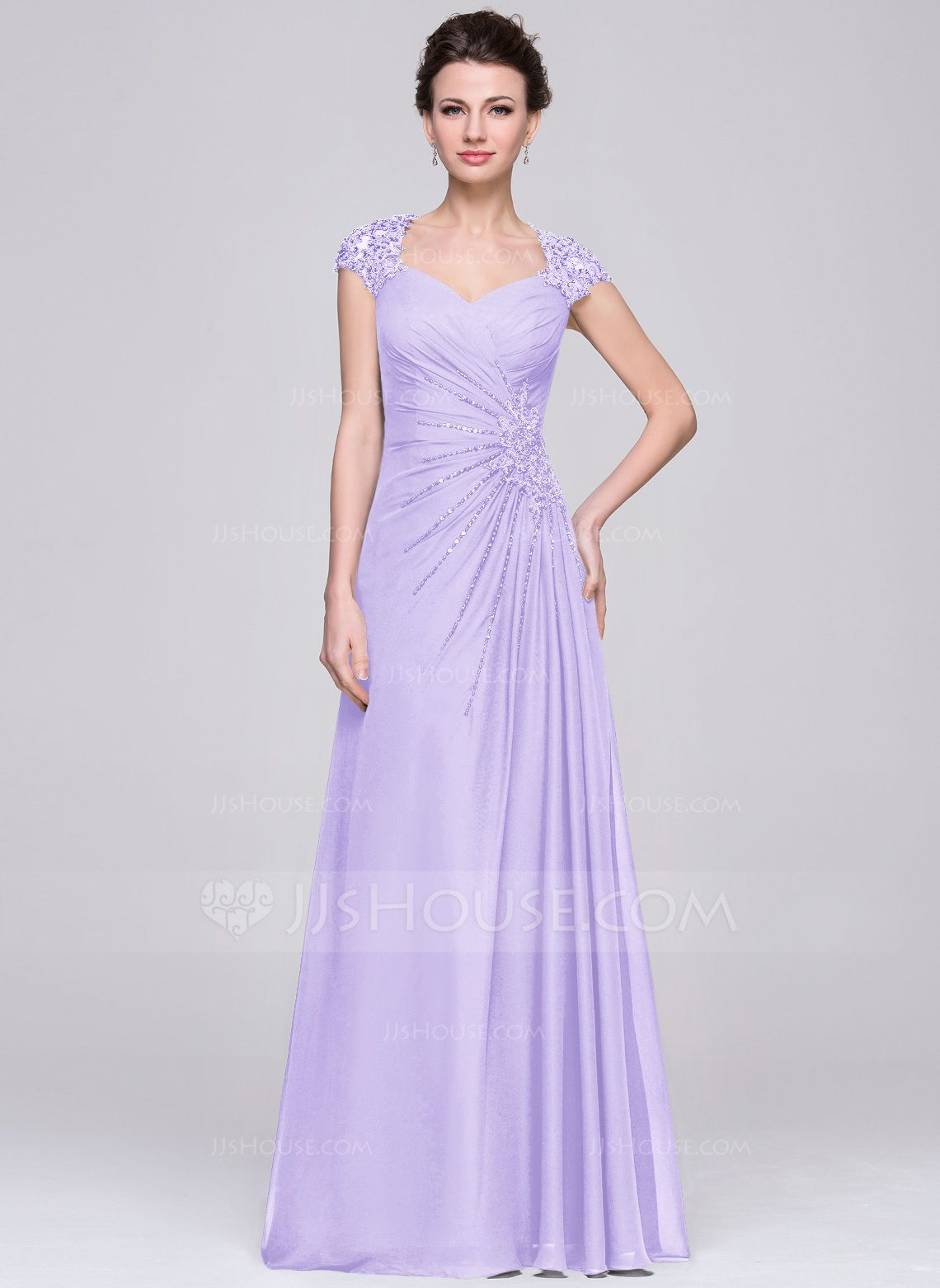 96045ed64cb5 A-Line/Princess Sweetheart Floor-Length Chiffon Mother of the Bride Dress  With Ruffle Lace Beading Sequins (008056888) - Mother of the Bride Dresses  - ...